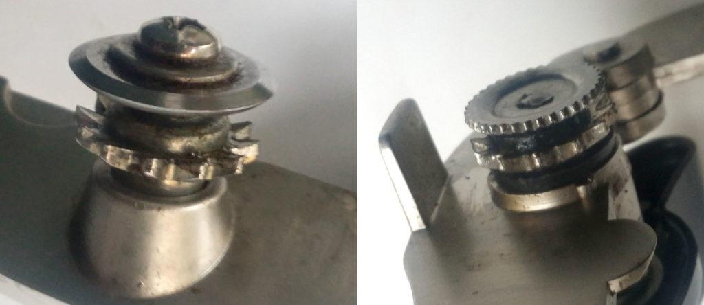 Слева поломка в первом случае, справа - во втором.